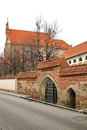 vilnius: Old street in Vilnius. Lithuania