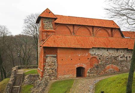 upper: Ruins of Upper castle in Vilnius. Lithuania