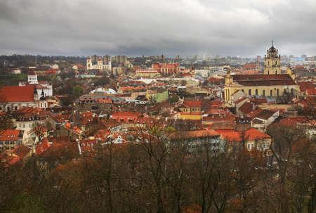 vilnius: Panoramic view of Vilnius. Lithuania