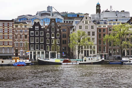 netherlands: Canal in Amsterdam. Netherlands Stock Photo