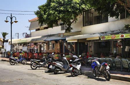 rhodes: Street in Afandou. Rhodes. Greece Editorial