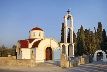 rhodes: New church in Afandou. Rhodes. Greece Stock Photo