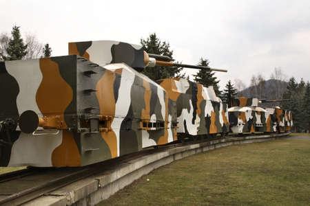 armored: Armored train Hurban in Zvolen. Slovakia