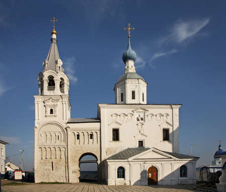 bogolyubovo: Holy Gate and Gate Church of Assumption in Bogolyubskii Monastery. Bogolyubovo. Vladimir oblast. Russia