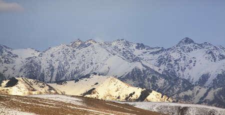 kyrgyzstan: Mountains near Grigorievka. Kyrgyzstan Foto de archivo