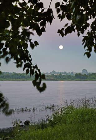 onega: Onega River in Kargopol. Russia