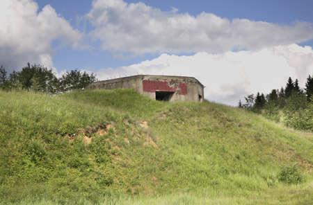belarus: Bunker near Serdovo lake. Belarus