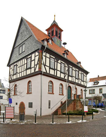 old town hall: Old town hall in Bad Vilbel. Germany Editorial