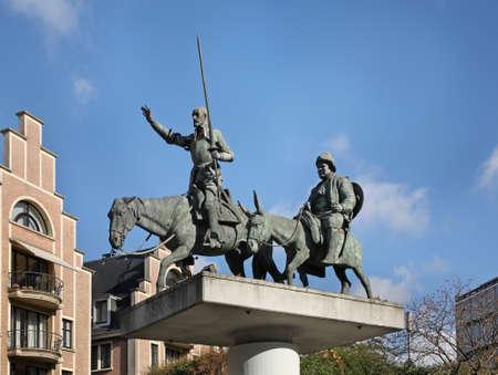 don quijote: Monumento a Don Quijote en Bruselas. B�lgica