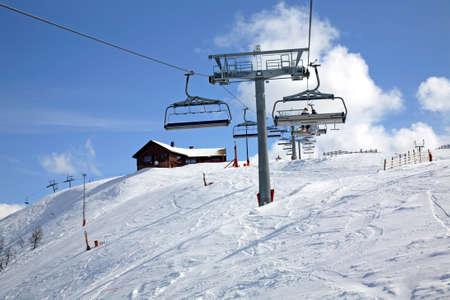 Ski trail in Lindvallen. Salen. Dalarna county. Sweden Stock Photo