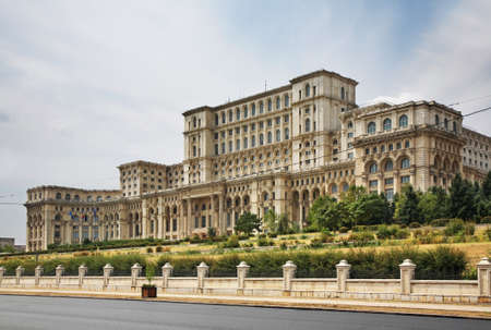 Palace of the Parliament of Romania in Bucharest. Romania