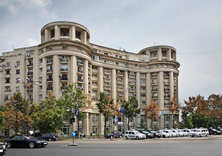 constituci�n pol�tica: Plaza de la Constituci�n en Bucarest. Rumania Editorial