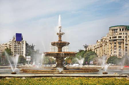 unification: Unification Square Piata Unirii in Bucharest. Romania