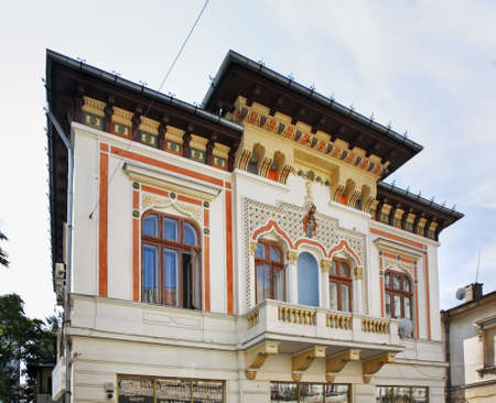 Old building in Bucharest. Romania Stock Photo