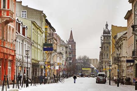 Bolesaw I Brave street in Gniezno. Poland
