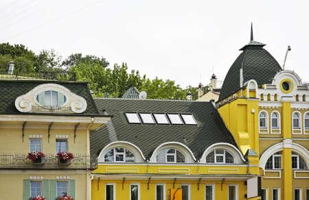 mansard: Building in Kiev. Ukraine
