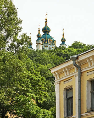andrew: Church of St. Andrew in Kiev. Ukraine Stock Photo
