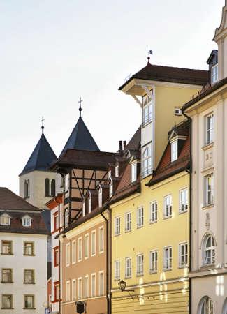 regensburg: Street in Regensburg. Bavaria. Germany