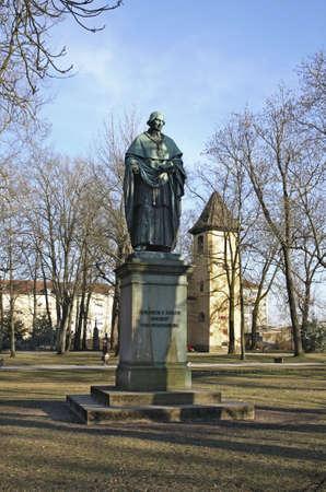 sailer: Monument to Sailer in Regensburg. Bavaria. Germany Editorial