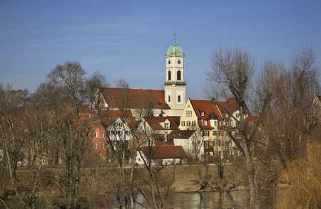 regensburg: Church of St. Mang in Regensburg. Bavaria. Germany Stock Photo