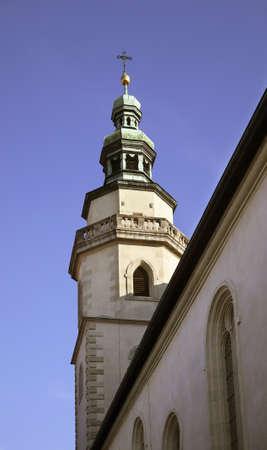 regensburg: Belfry of church in Regensburg. Bavaria. Germany Stock Photo