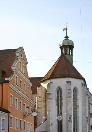 oswald: Church of St. Oswald in Regensburg. Bavaria. Germany Stock Photo