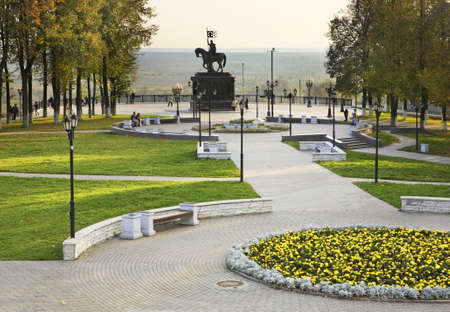 vladimir: Monument to St. Prince Vladimir and prelate Fedor in Vladimir. Russia Editorial