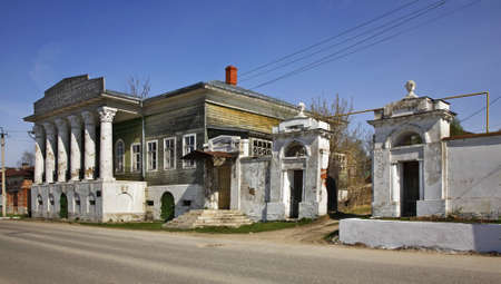 merchant: Mansion of merchant Barkov on Embankment street in Kasimov. Ryazan oblast. Russia
