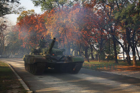 serbia: Tank in Belgrade. Serbia Editorial