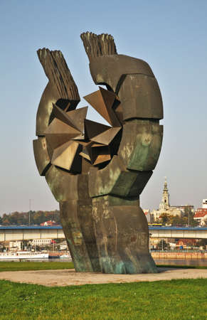 commemorating: Monument to commemorating victims of the Sajmiste concentration camp in Belgrade. Serbia