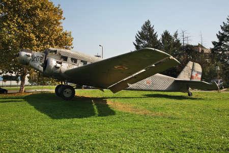 serbia: Old airplane in Belgrade. Serbia Editorial