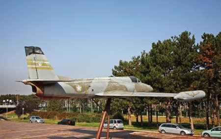 serbia: Fighter aircraft in Belgrade. Serbia