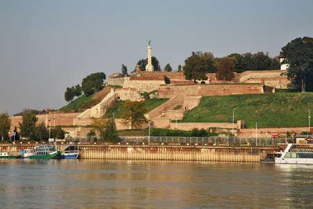 city park boat house: Embankment of Sava river in Belgrade. Serbia