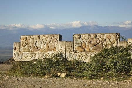 stele: Stele in Sighnaghi. Kakheti. Georgia