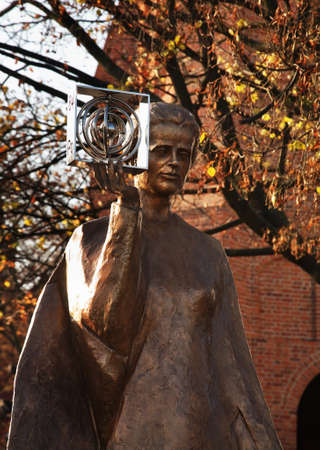 polska monument: Monument to Maria Sklodowska-Curie in Warsaw. Poland