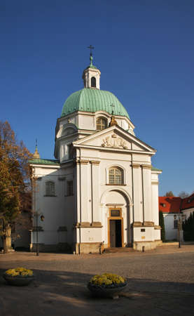 casimir: Church of St. Casimir on New town market place in Warsaw. Poland Stock Photo