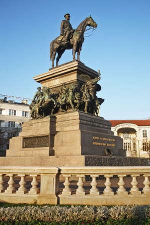 statuary: Monument to the Tsar Liberator in Sofia. Bulgaria