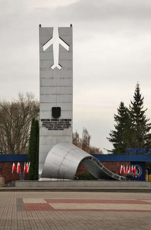 heroic: Monument to Heroic Aviators in Deblin. Poland