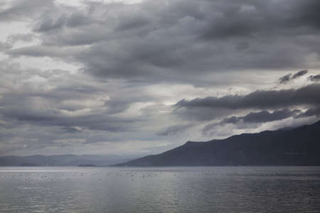 paysage: Ohrid lake near Saint Naum. Macedonia