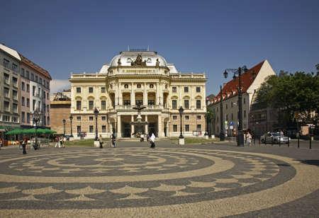 slovak: Slovak national theatre in Bratislava. Slovakia Editorial