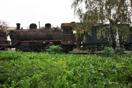 serbia: Old steam locomotive in Nis. Serbia Editorial