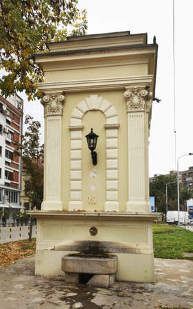 serbia: Old fountain in Nis. Serbia