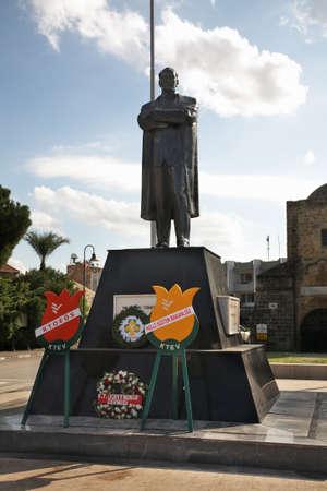 ataturk: Monument to Ataturk in Nicosia. Cyprus Editorial