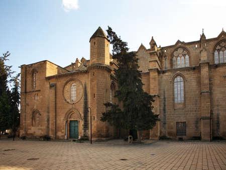 selimiye mosque: Selimiye Mosque St. Sophia Cathedral in Nicosia. Cyprus Stock Photo