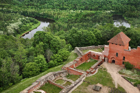 Turaida Castle near Sigulda. Latvia Editorial
