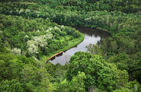 paysage: Landscape in Turaida near Sigulda. Latvia