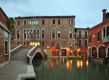 veneto: Canal in Venice. Veneto. Italy Stock Photo