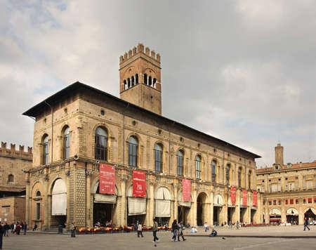 dei: Palazzo dei Podesta on piazza Maggiore in Bologna. Italy Editorial