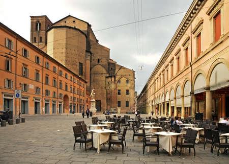 bologna: Galvani square in Bologna. Italy
