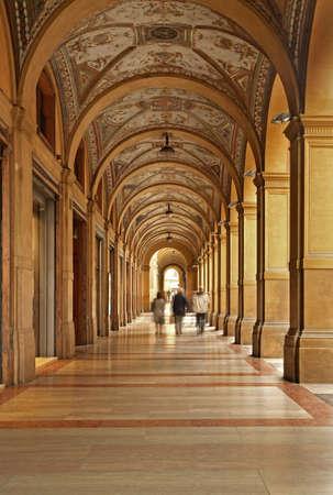 arcades: Arcades of Bologna. Italy Editorial